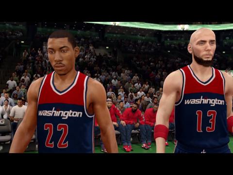 NBA Playoffs 2017 - Washington Wizards vs Boston Celtics - Game 5 - 1st - NBA LIVE 16 PS4 PRO - HD