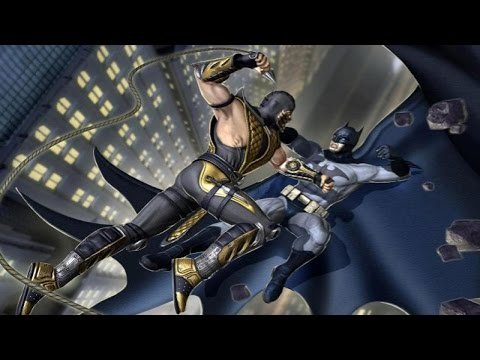Mortal Kombat Vs DC Universe - All Stage Transitions & Freefall Super Moves