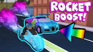 VOLT VS BUGATTI ROCKET BOOST RACE! (Roblox Jailbreak)
