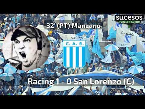 Racing (Cba) 1 - 1 San Lorenzo (Catamarca) | Gol de Manzano | Relatos de Darío Ludueña