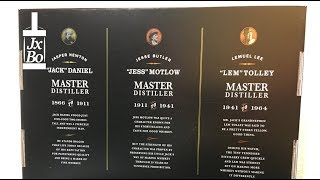 Triple Master Distiller Set Jack Daniels USA - Tennessee Whiskey Jack Daniel, Jess Motlow Lem Tolley