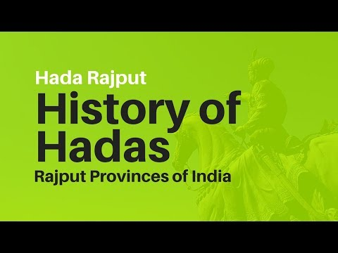 Hada History 📗 History of Hadas in India 👀 Rajput Provinces of India 🙏 Hada Rajput
