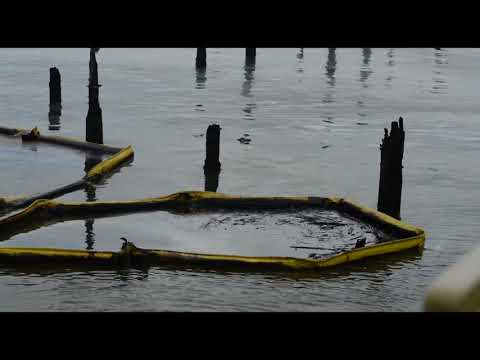 Astoria oil spill cleanup could take weeks (video)