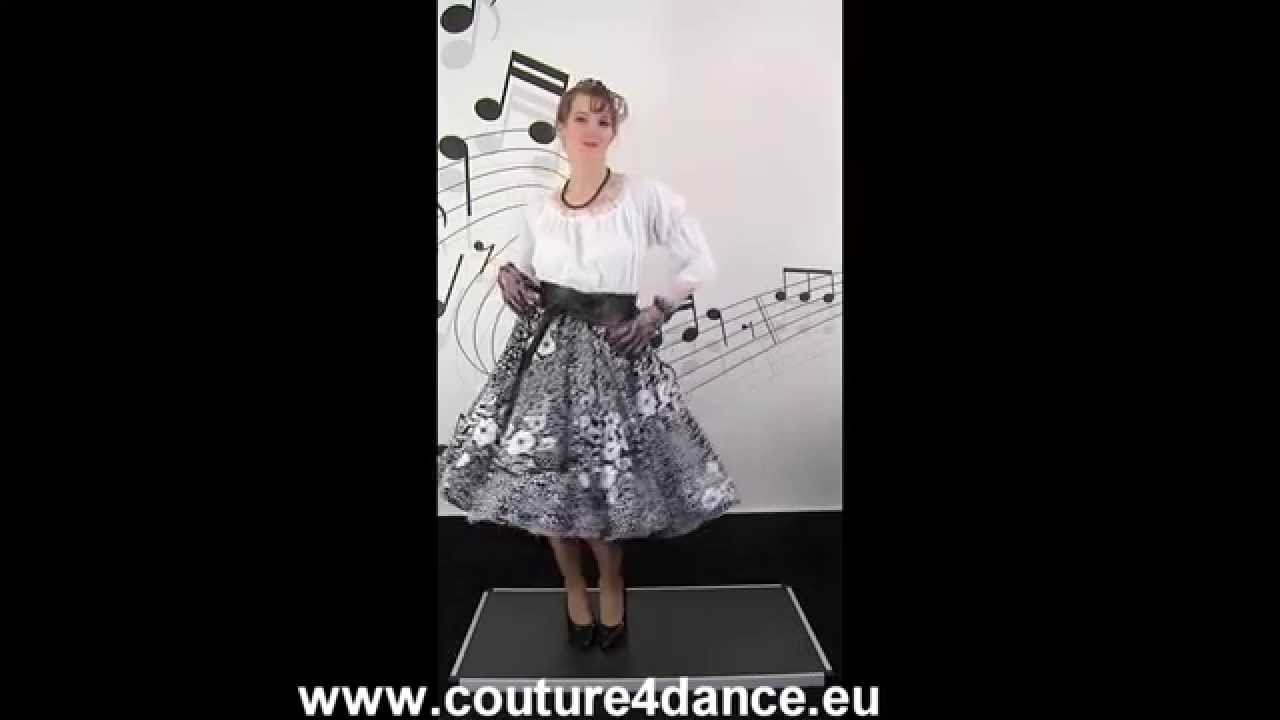 Tellerrock / Circleskirt Beauty+Carmenbluse weiß+Petticoat Sissi