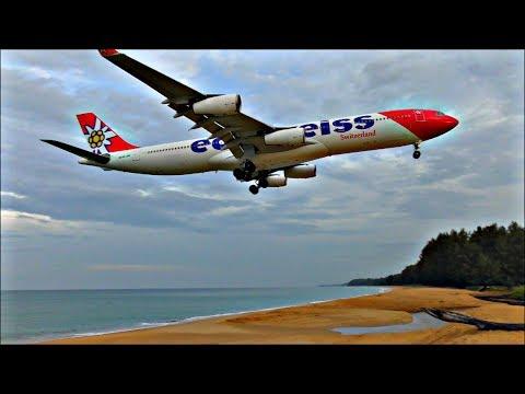Incredible Beach Planespotting at Phuket International Airport, Thailand! | PART 3