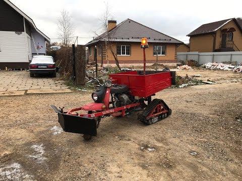Мотороллер Муравей на гусеницах  2.0 На кардане и с 4Т мотором и снегоотвалом