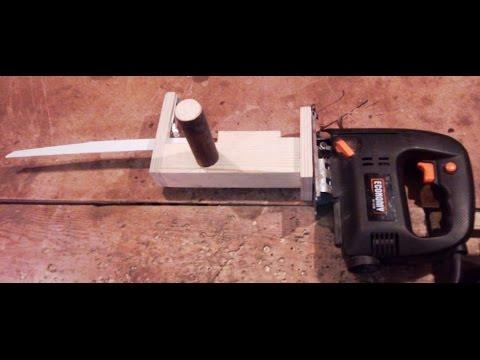 Как сделать шлифовальную насадку на лобзик с многоразовой сменой наждачного полотна