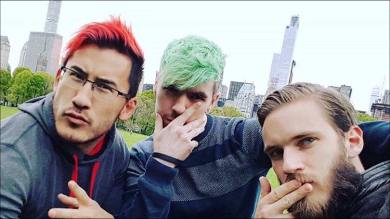 Jacksepticeye And Pewdiepie And Markiplier