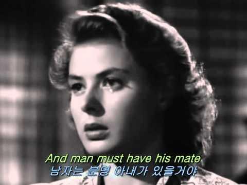 """[영화OST/영화음악] 카사블랑카(Casablanca, 1942) - 둘리 윌슨(Dooley Wilson) """"As Time Goes By"""""""