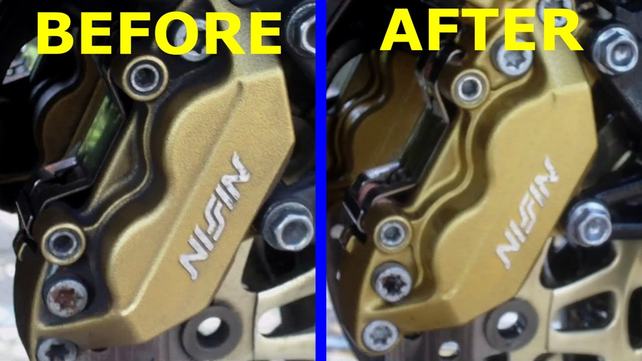 How to clean your motorcycle brake calipers LIKE A BOSS! (Autosmart red 7)