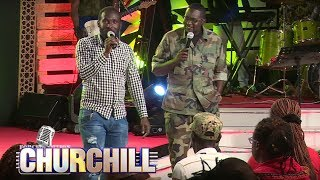 Hilarious: Dj Shiti makes an appearance on Churchill Show