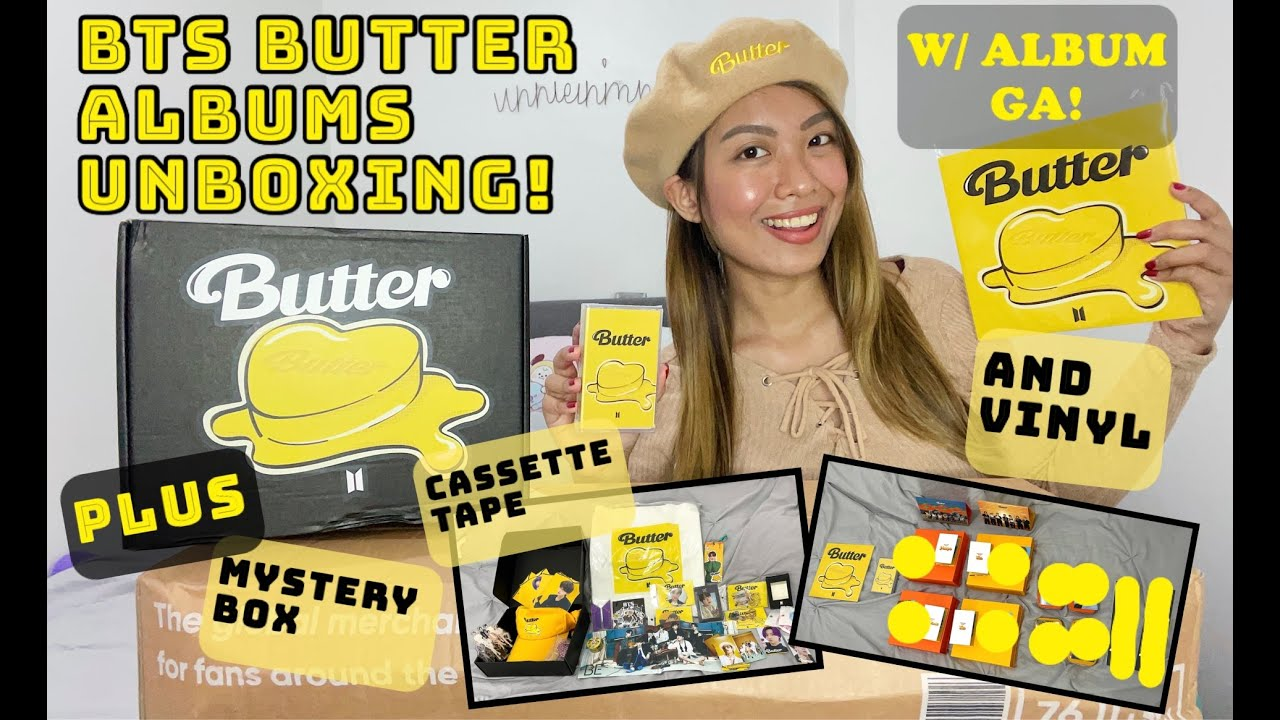 BTS BUTTER ALBUM SET,  MYSTERY BOX, VINYL AND CASSETTE TAPE UNBOXING ✨ With Album Set Giveaway! ✨
