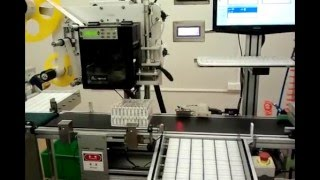 automatic labeler for barcode online print labeling machine on the top surface