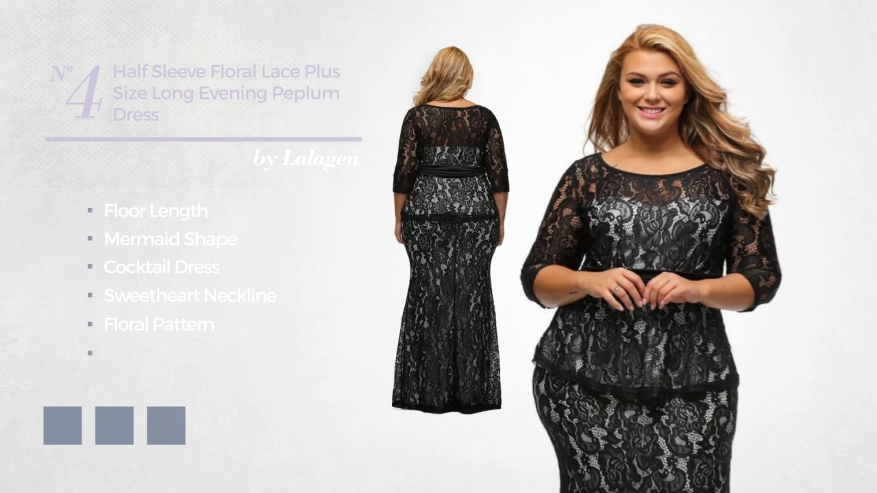 Eye Catching Plus Size Long Dresses Collection Youtube