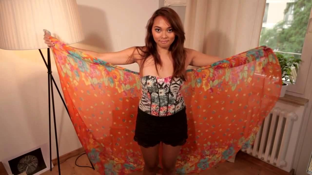 Kleid mit tuch binden