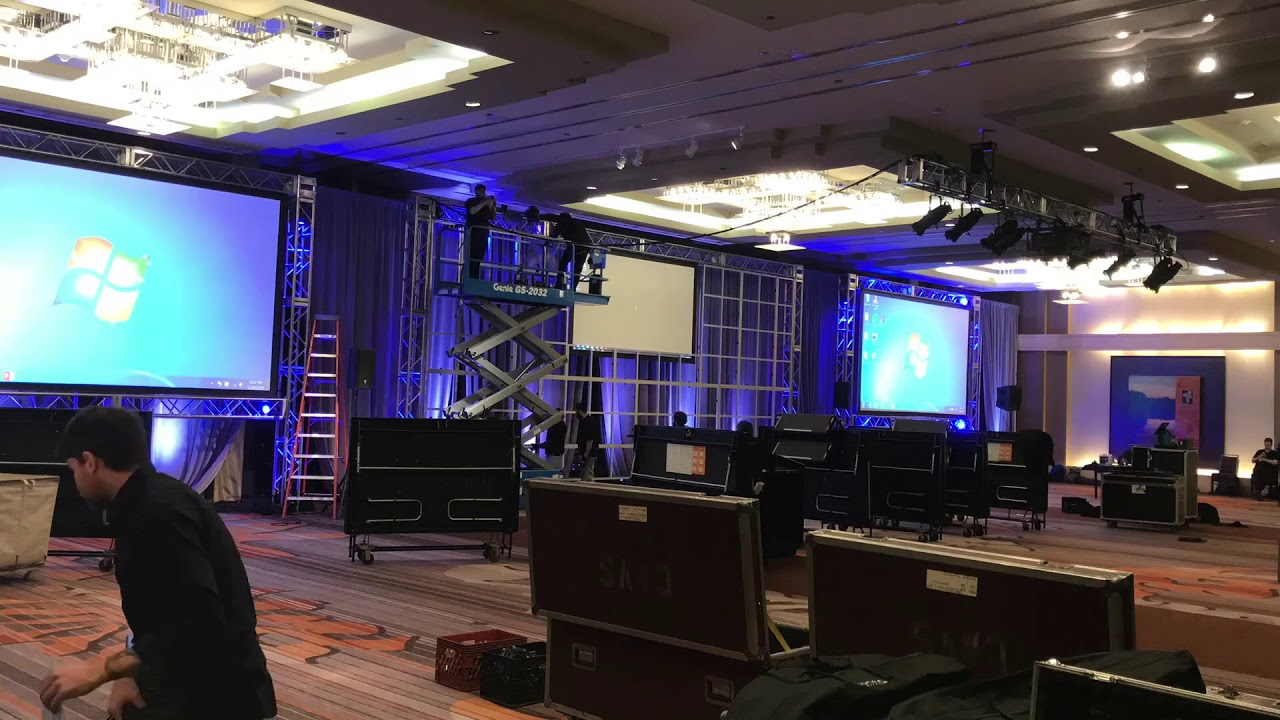 Corporate Av Conference Set Up Time Lapse Youtube