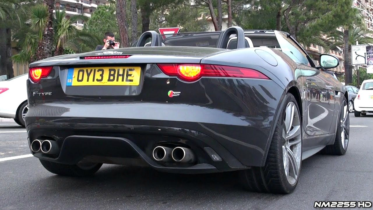 jaguar f type v8 s loud accelerations sound youtube. Black Bedroom Furniture Sets. Home Design Ideas