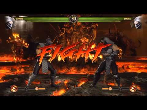 Mortal Kombat 9 - Smoke and Noob (Tag Ladder) [Expert] No Ma
