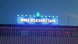 Mega star night club pixel led cephe tabelası Uygulama Emin Ali Tuğcu