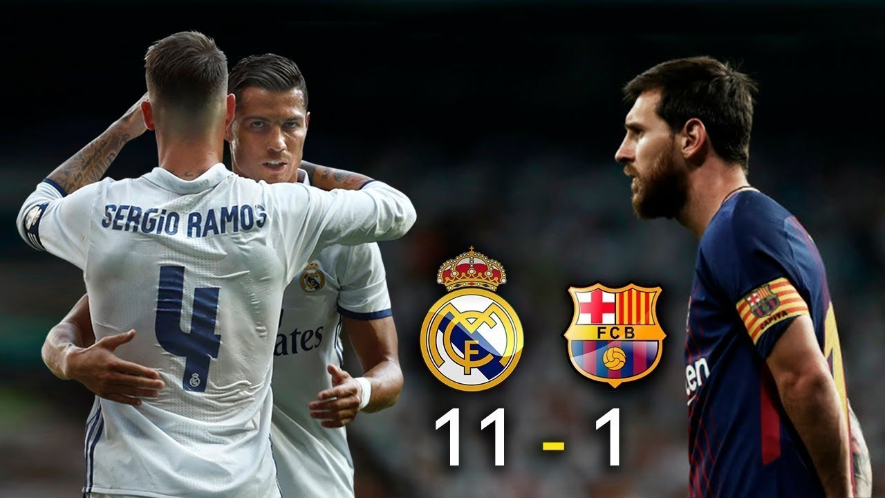Real Madrid 11 1 Barcelona Fc Parodia El Clasico Video Bloqueado Solucionado Youtube