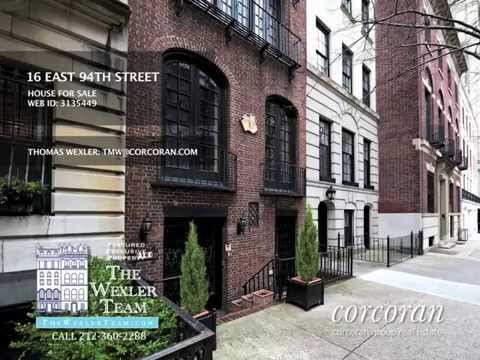 NYC TOWNHOUSE 16 EAST 94TH STREET MANHATTAN FOR SALE