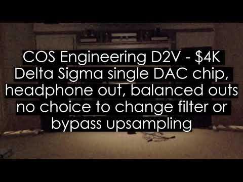 DAC Comparison. Vermeer2. Denafrips Ares, COS D1V2, MSB Analog DAC, APL HiFi DSD MR