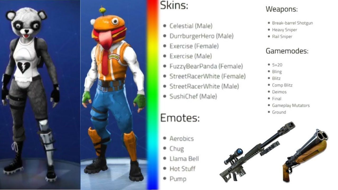 the biggest update in the history of fortnite is leaked new leaked skins emotes gamemodes more - fortnite 52 skins