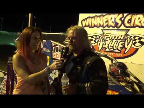 Steve Wilbur in victory lane at Path Valley 8-25-18