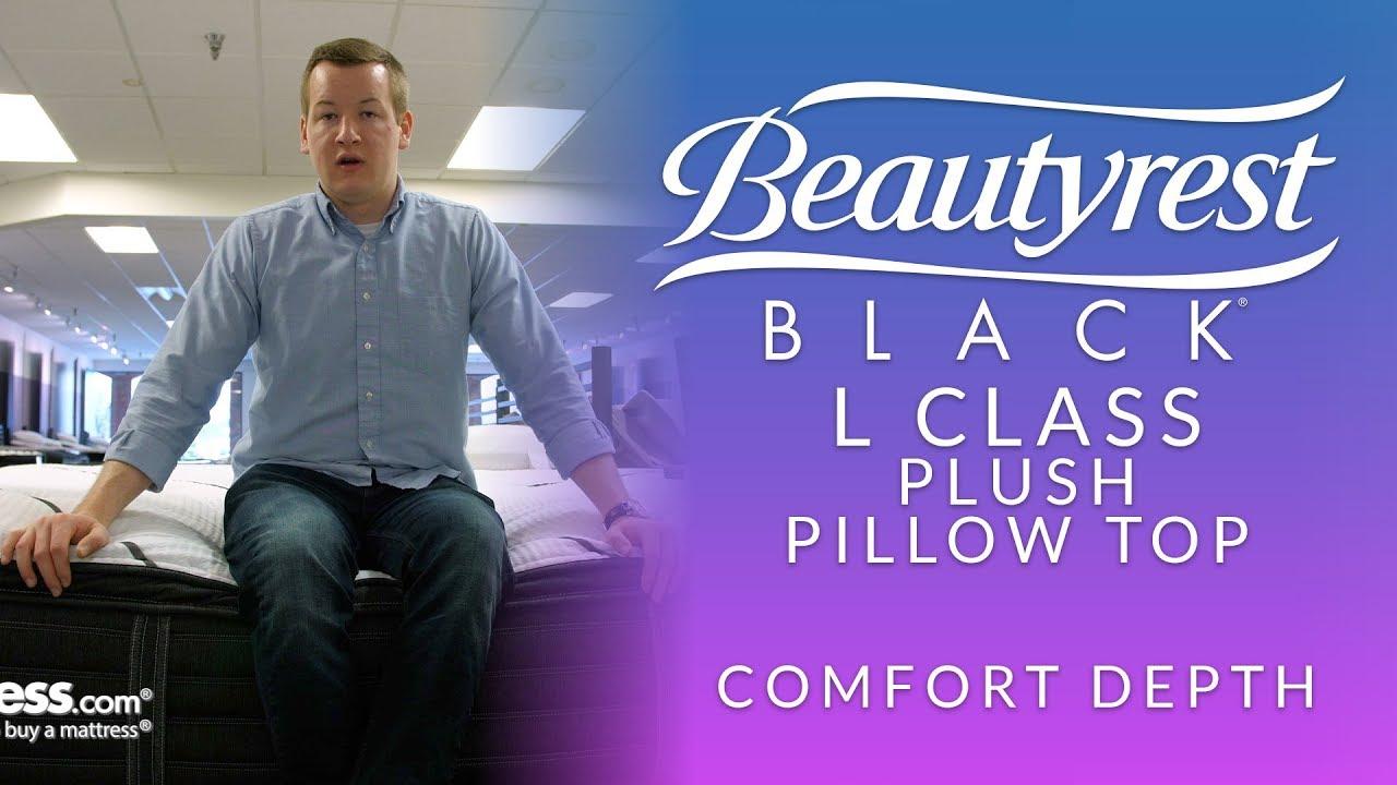 beautyrest black l class plush pillow top mattress comfort depth 1