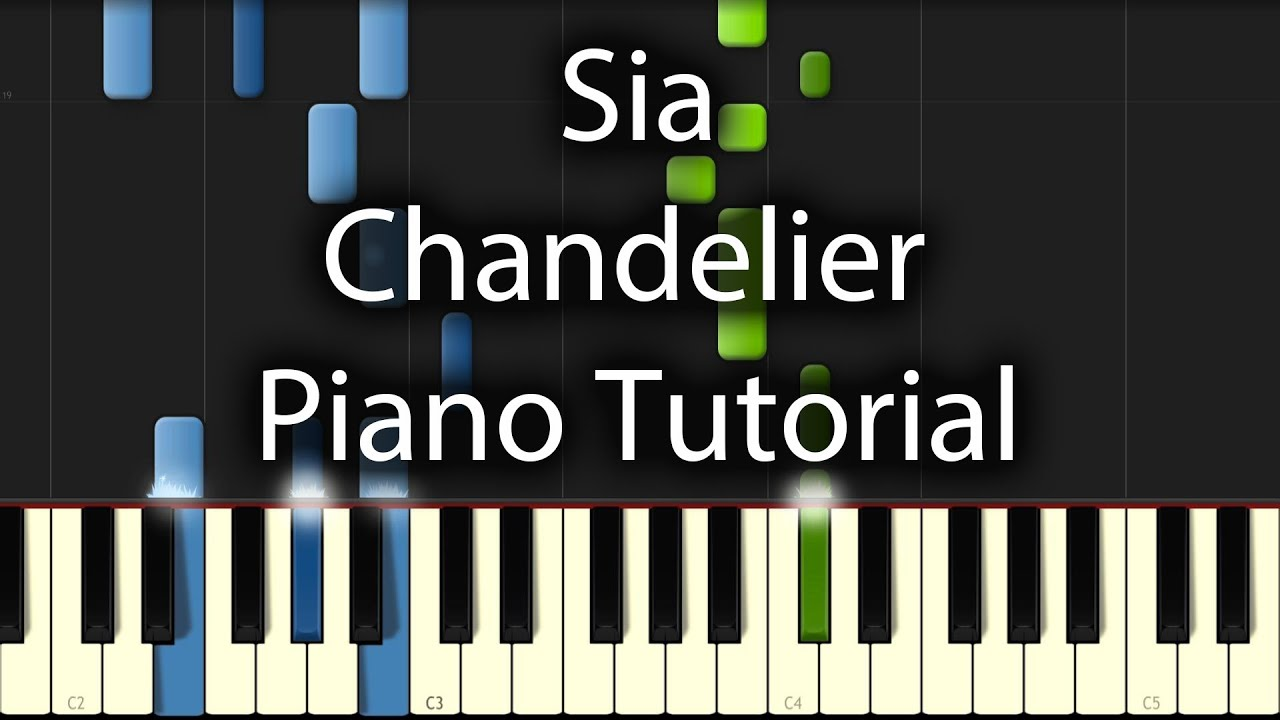Sia Chandelier Tutorial How To Play On Piano