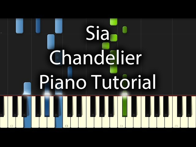 Sia - Chandelier Tutorial (How To Play On Piano) - YouTube