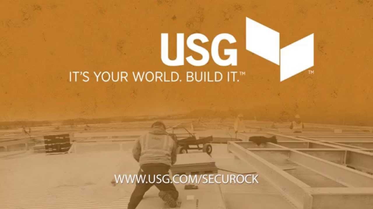 Usg Securock 174 Brand Cement Roof Board Youtube