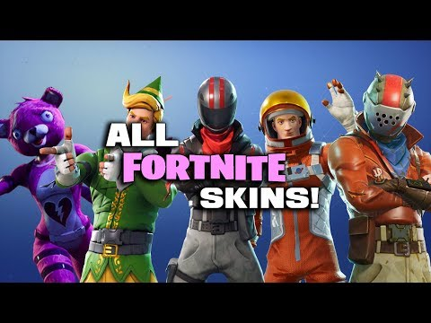 (UPDATED VERSION IN DESCRIPTION) ALL SKINS IN FORTNITE BATTLE ROYALE! (Name, Rarity And Cost)