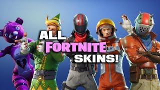 (VERSION MISE À JOUR DANS LA DESCRIPTION) TOUS SKINS IN FORTNITE BATTLE ROYALE! (Nom, rareté et coût)