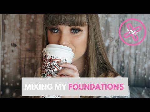 MIXING ALL OF MY FOUNDATIONS! | Miranda Myers
