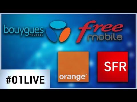 Bouygues, SFR, Orange, Free : quel est le meilleur opérateur de l'année ? - 01LIVE HEBDO #171