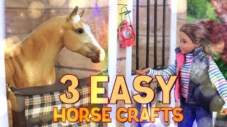 DIY - How to Make: 3 EASY Horse Crafts | Stall Guard | Mesh Hay Net | Track Rack