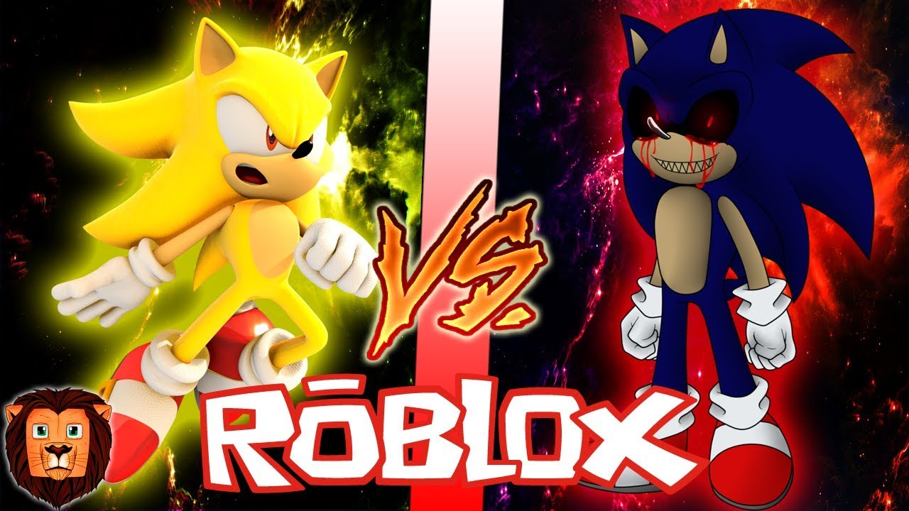 Super Sonic Vs Sonic Exe En Roblox Batalla Epica De