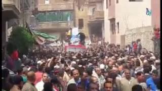 شاهد.. الغربية تشيع جثمان الشهيد الثاني فى تفجير مركز تدريب الشرطة