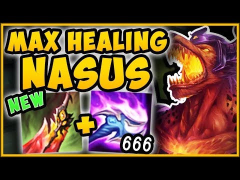 ONE Q =  HEALTH? WTF DEATHS DANCE NASUS IS 100% BUSTED NASUS TOP SEASON 9  League of Legends
