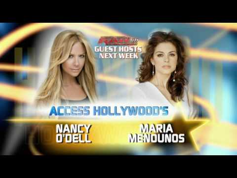 WWE  RAW Guest Hosts Nancy ODell and Maria Menounos