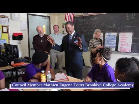 Brooklyn College Academy Welcomes Council Member Mathieu Eugene