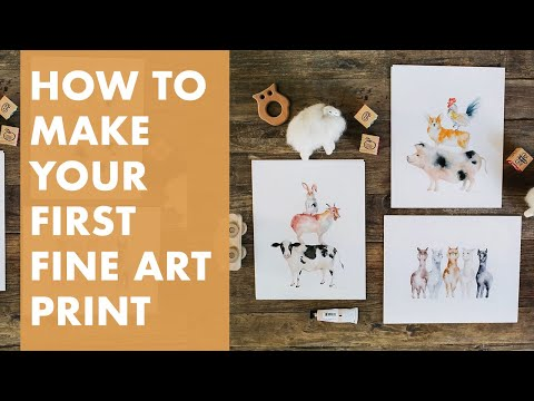 How To Make Your Own Art Prints To Sell