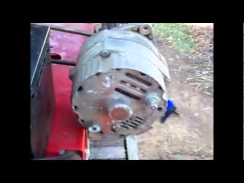 Alternator Demo, self energize, generator, arc welder | Doovi