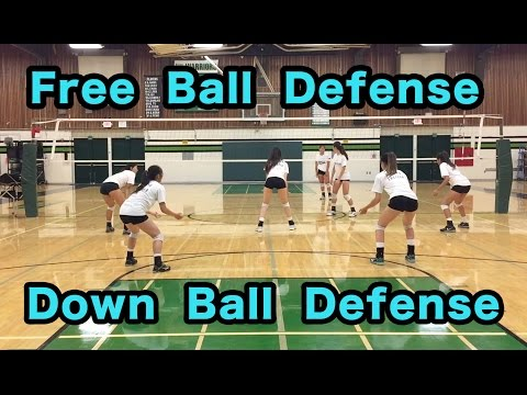 Free Ball + Down Ball Defense - Volleyball Defense Tutorial