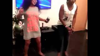 Actress Rita Dominic Dancing With Kate Henshaw At Her Birthday Party