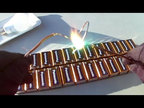How To Make 220 Volt with 9 Volt Batteries