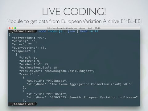 Node.js Streams Live Tutorial for Bionode Hackathon 2016 at Google Campus London