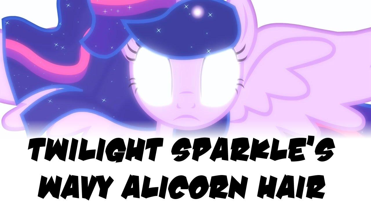 mlp theory twilight sparkle s wavy alicorn hair youtube