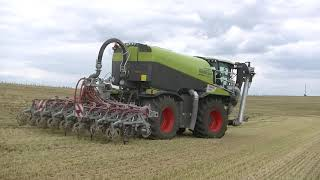 Kejdování Metodou Strip-Till s Claas Xerion 4000 Saddle Trac + Kaweco + Vogelsang